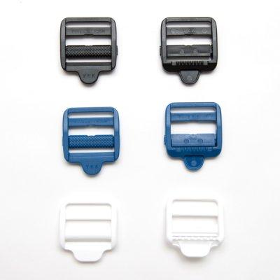 画像1: ダブルバックル4個セット(25mm巾線コキ)