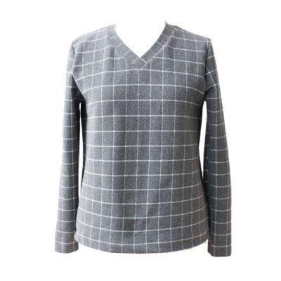 画像1: 型紙:VネックTシャツ
