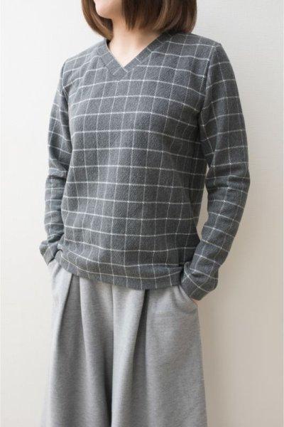 画像2: 型紙:VネックTシャツ