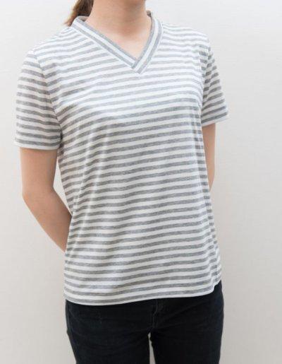 画像4: 型紙:VネックTシャツ